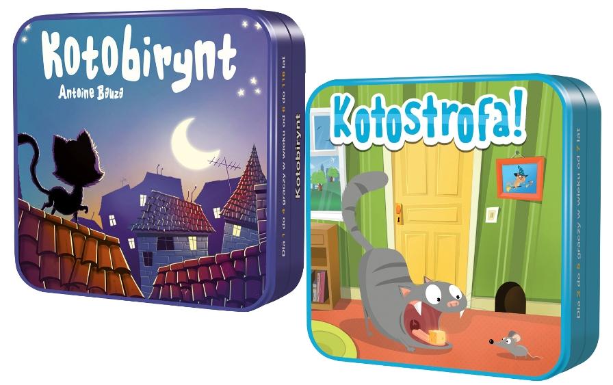 Pakiet: Kotobirynt + Kotostrofa REBEL gra karciana