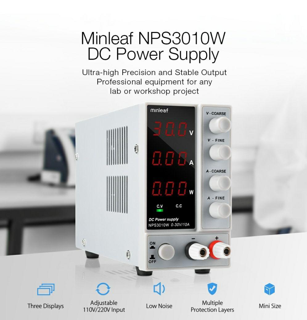 Minleaf NPS3010W 0-30V 0-10A 300W zasilacz laboratoryjny @Banggood