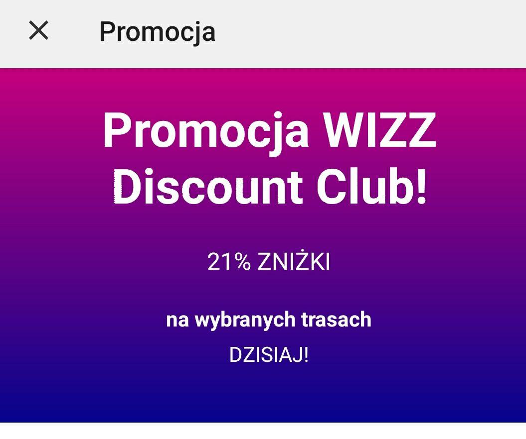 Obniżka dla klubowiczów Wizzair