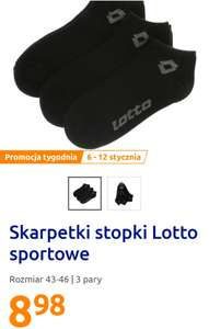 Skarpetki, stopki Lotto 3 pary w Action