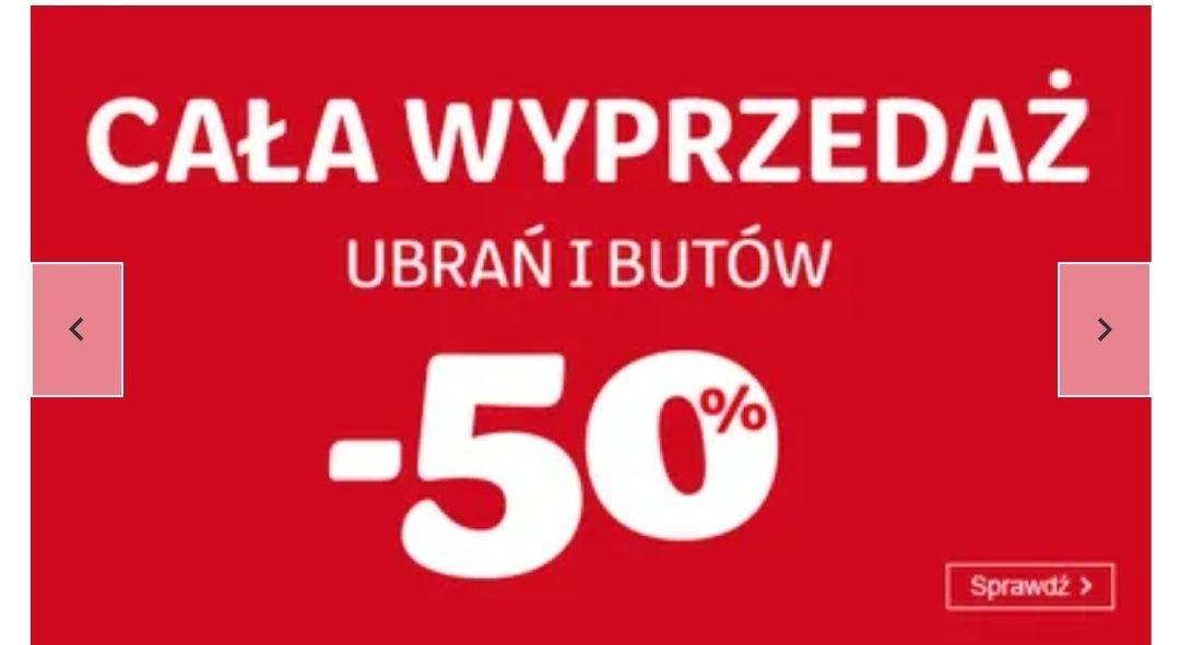 -50 % ubrania i buty Smyk