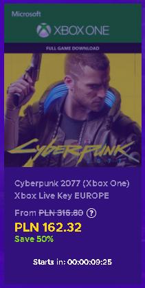 Cyberpunk 2077 [Xbox One/Series] [Klucz, Europa, bez VPN]