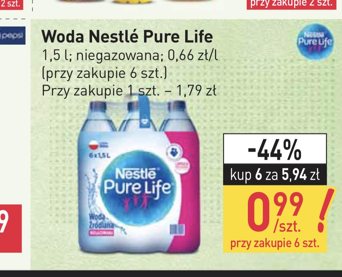 Stokrotka: Woda niegazowana Nestle Pure Life - przy zakupie 6 szt