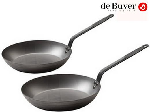 Zestaw patelni De Buyer   24 + 28 cm Niezbędny do tworzenia kulinarnych rozkoszy podniebienia: zestaw patelni De Buyer.