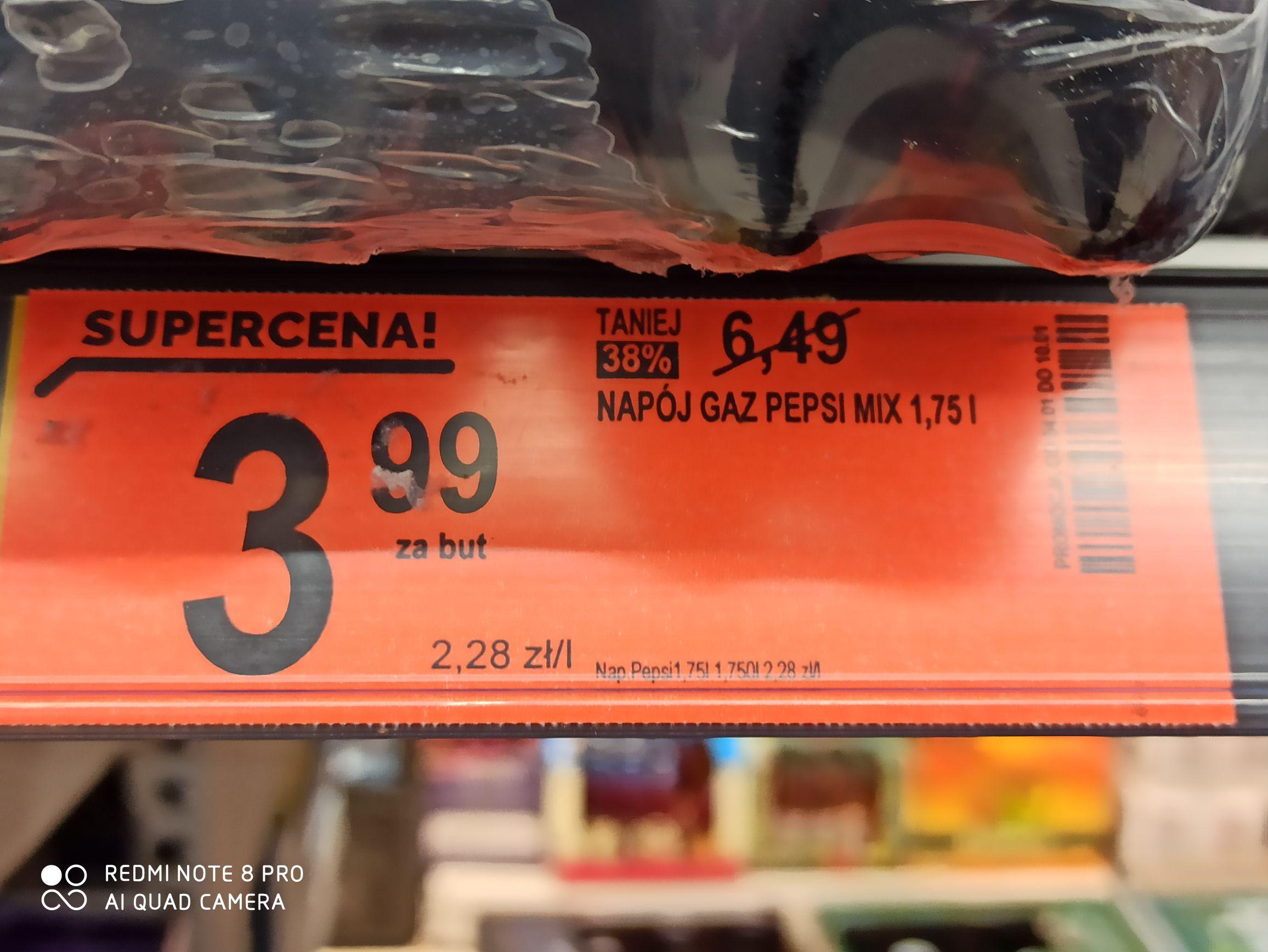 Biedronka Pepsi 1,75L mix - lokalizacja cały kraj