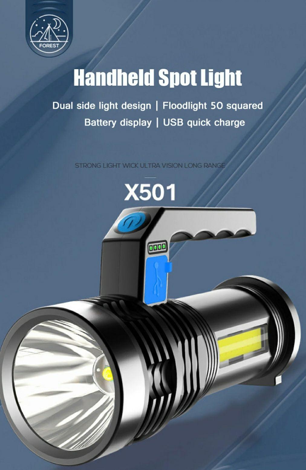 XANES® P500 X501 USB latarka @Banggood
