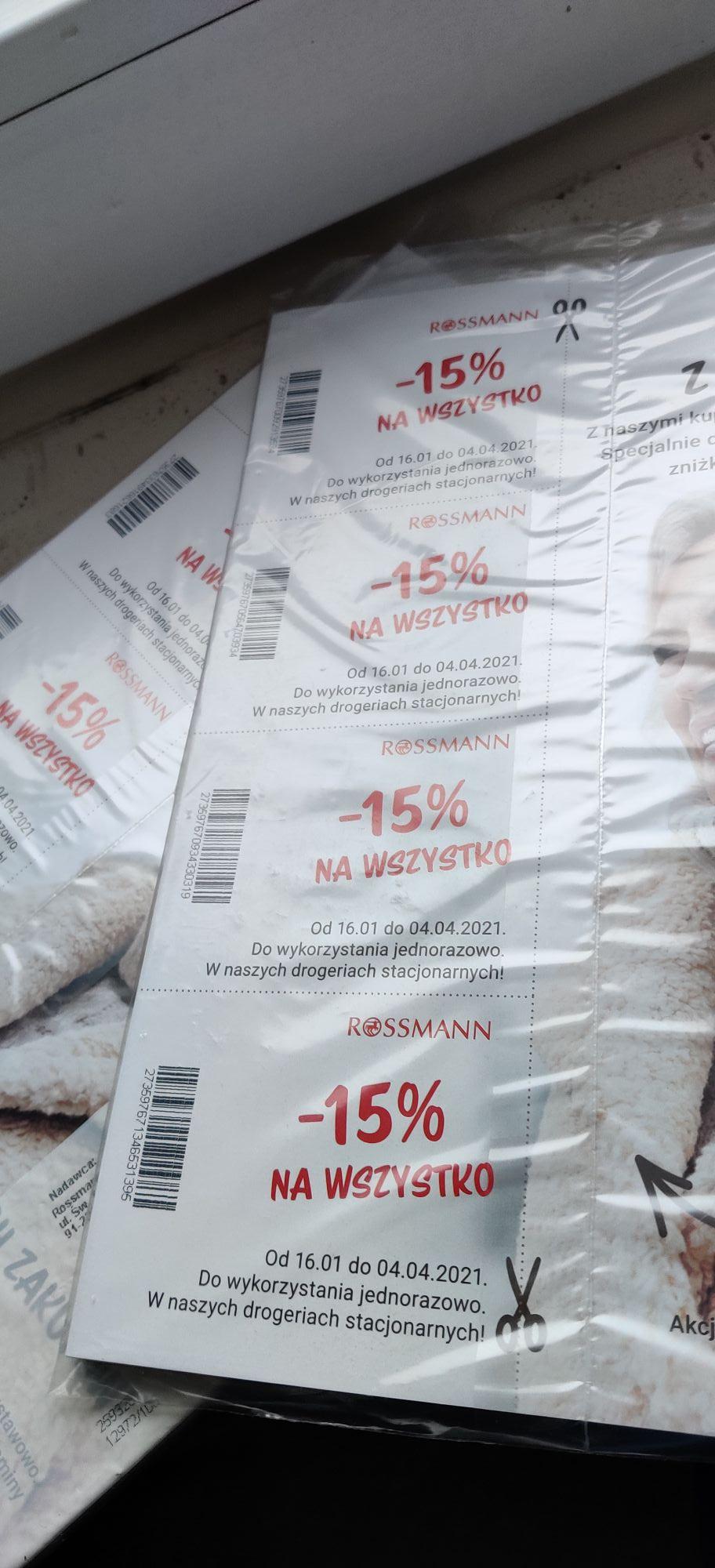 Kupon do Rossmana -15%
