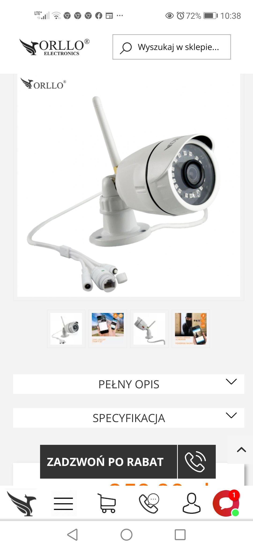 Mini Kamera Zewnętrzna IP WIFI Bezprzewodowa Full HD 1080p do Monitoringu Domu Biura Posesji