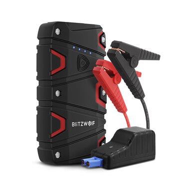 BlitzWolf® BW-JS1 Podręczny Starter dla samochodów 12000mAh 800A QC3.0 USB, wysyłka z Czech gratis bez VAT.