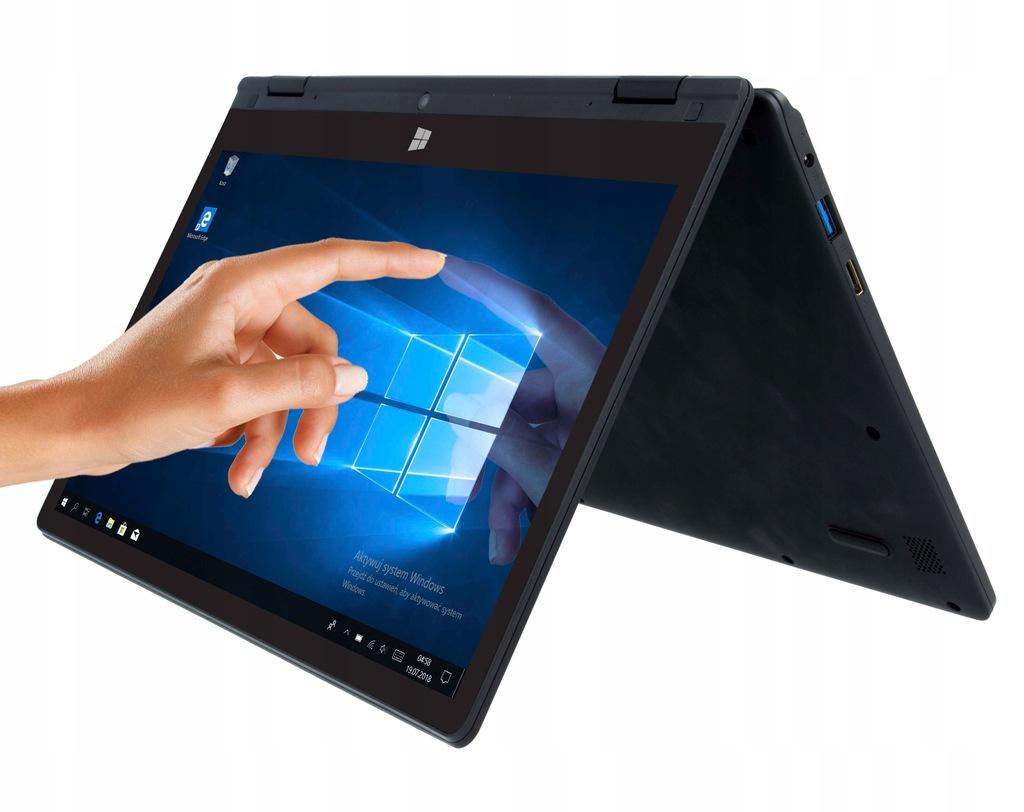 Laptop 3w1 TechBite Arc 11.6 odnowiony - Celeron N4000/4 GB RAM/32 GB SSD/Windows 10/Full HD