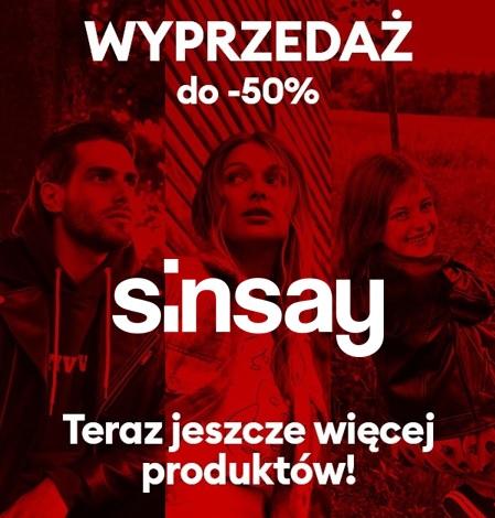 Sinsay   Wybrane artykuły - 50%!