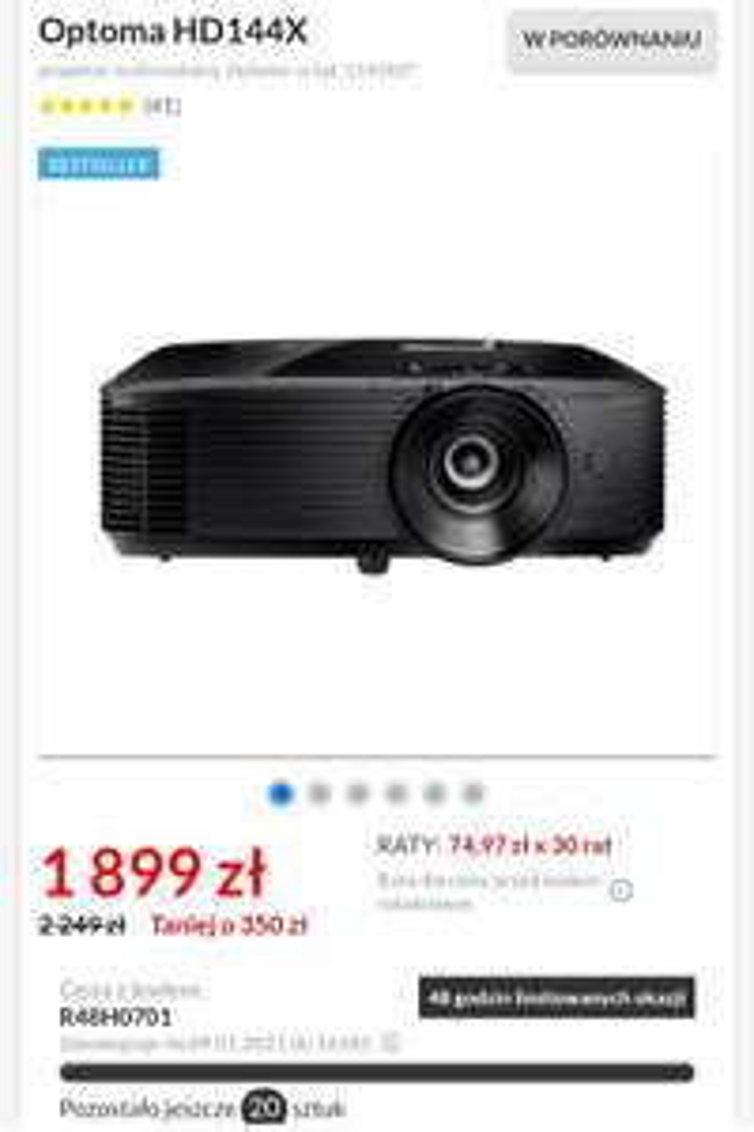 Projektor Optoma HD144X w RTV EURO AGD