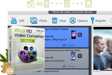 WinX HD Video Converter Deluxe V5.16.2 za darmo.