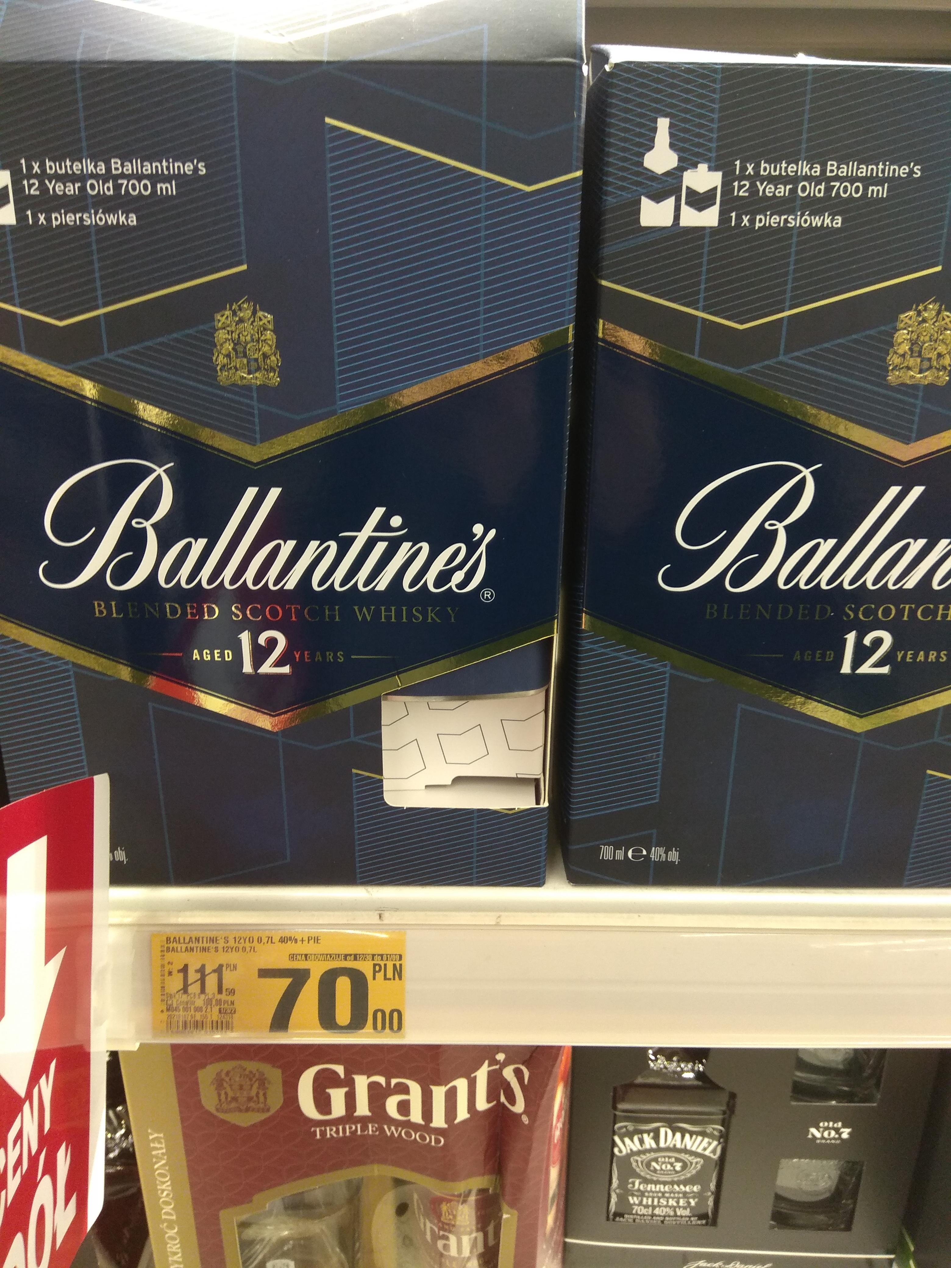 Whisky Ballantine's 12yo 0.7L + piersiówka