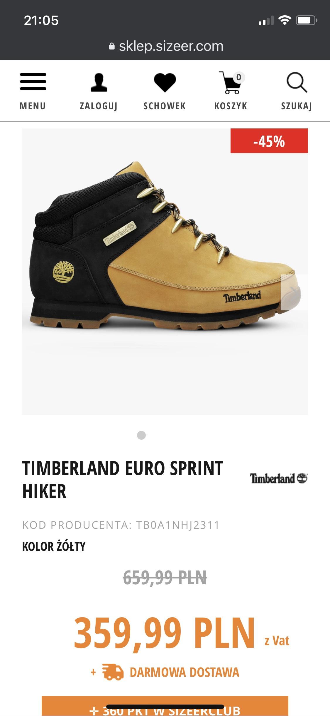 Timberland euro sprint hiker