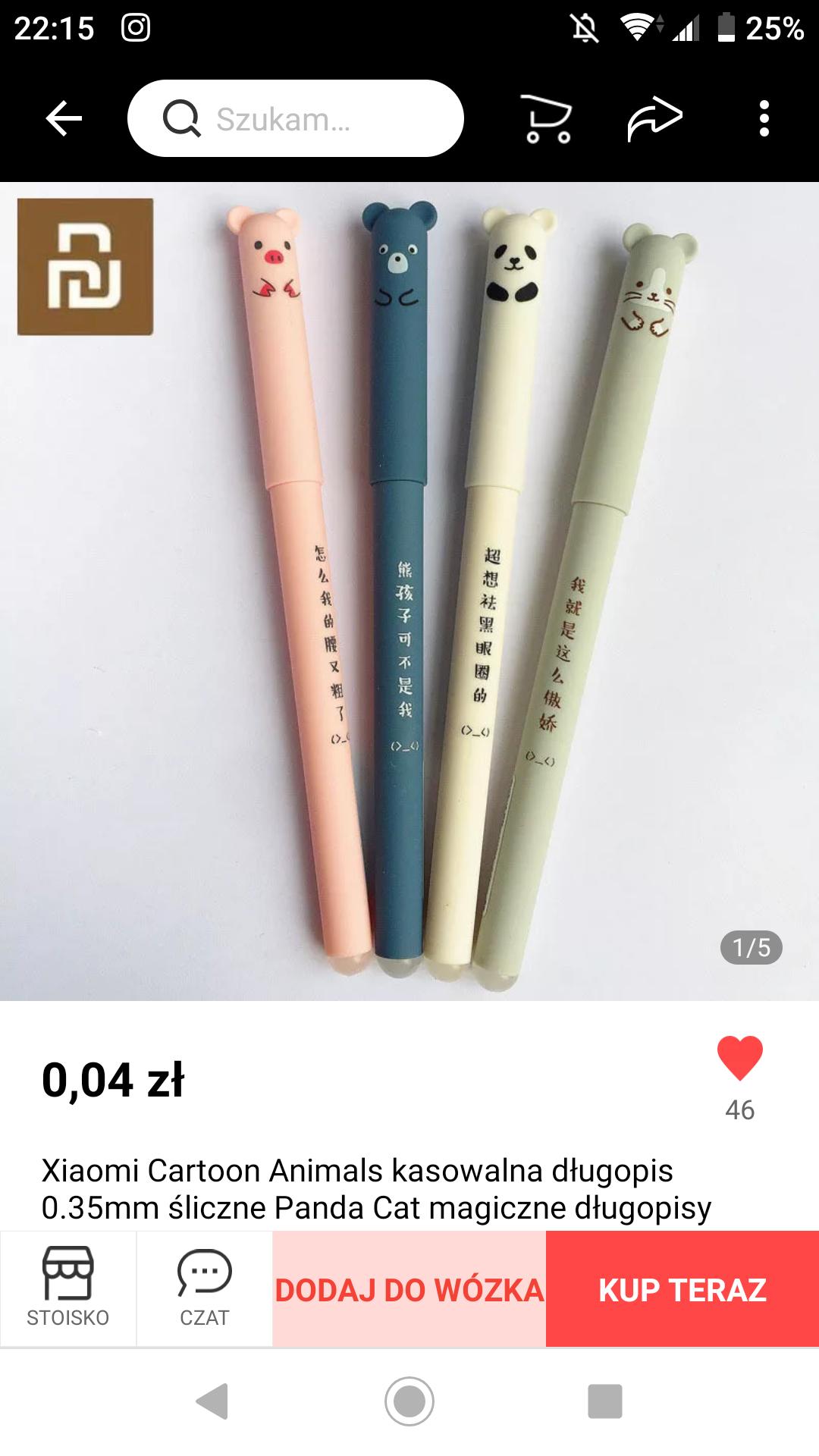 Długopisy z Ali za 4 grosze ($0,01)