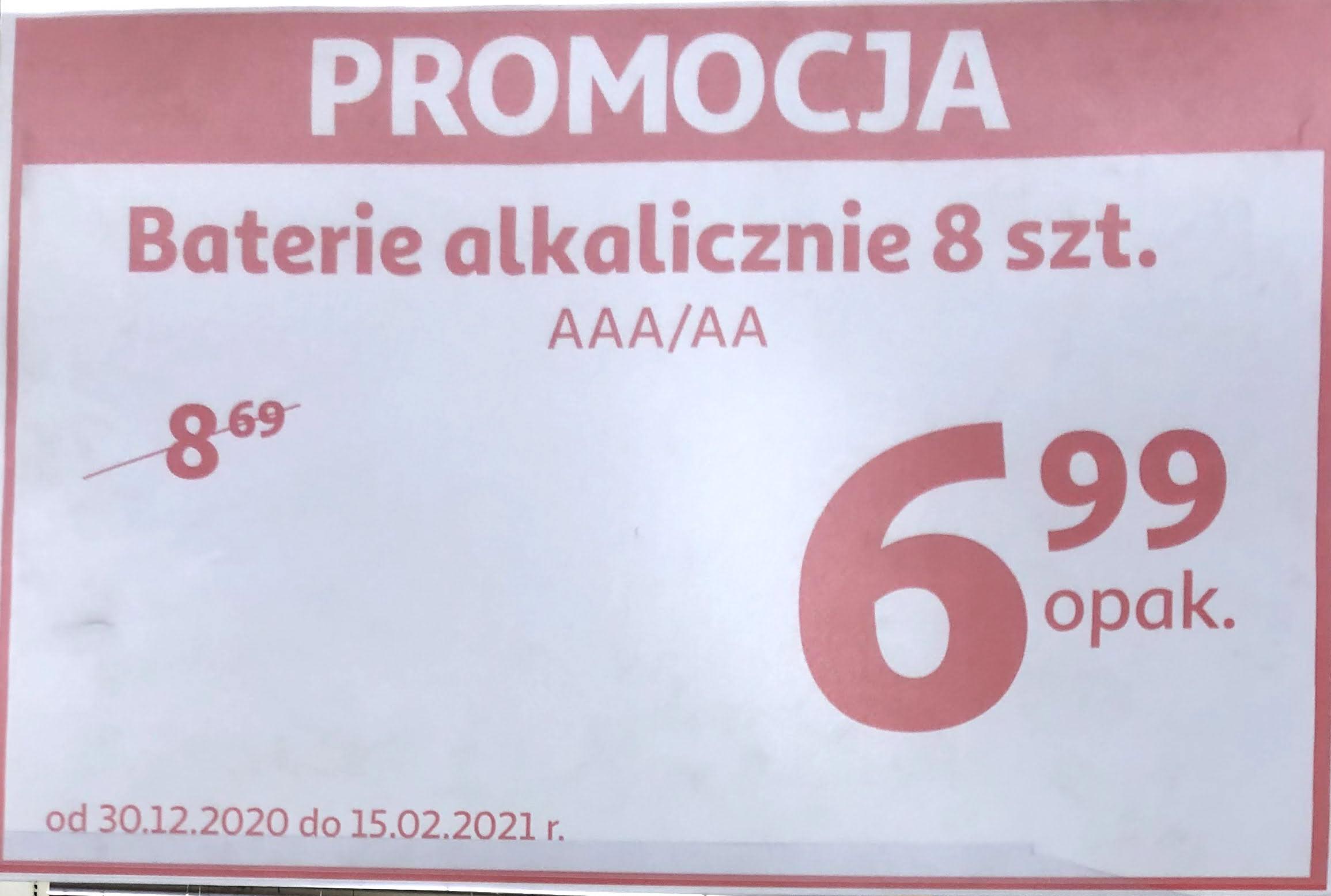 Baterie alkaliczne AA/AAA 8 szt. Auchan Kraków Bonarka