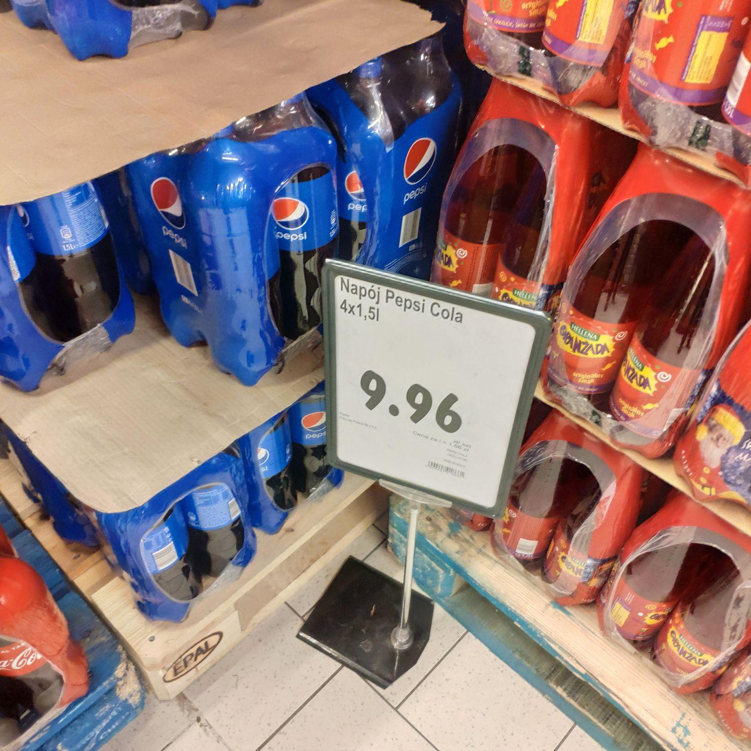 Pepsi 4x1,5l za 9,96 @Polomarket Zabrze ul. Wolności
