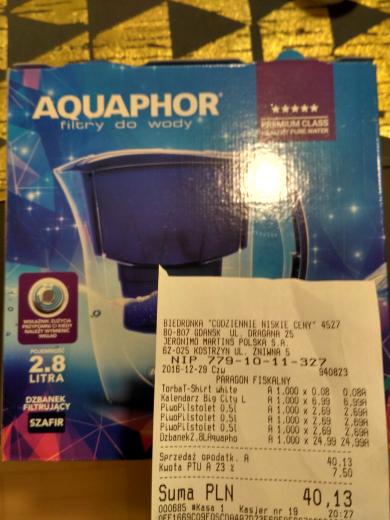 Dzbanek Aquaphor Szafir 2.8 l + filtr Maxfor