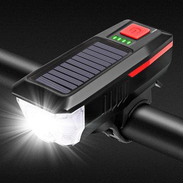 Solarna lampka rowerowa z ładowaniem USB z Banggood