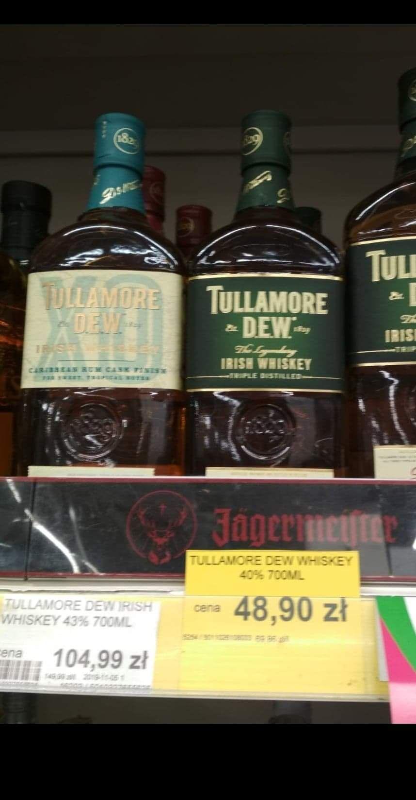 TULLAMORE DEW 0,7 Toruń Lewiatan tylko dziś i jutro Whisky whiskey
