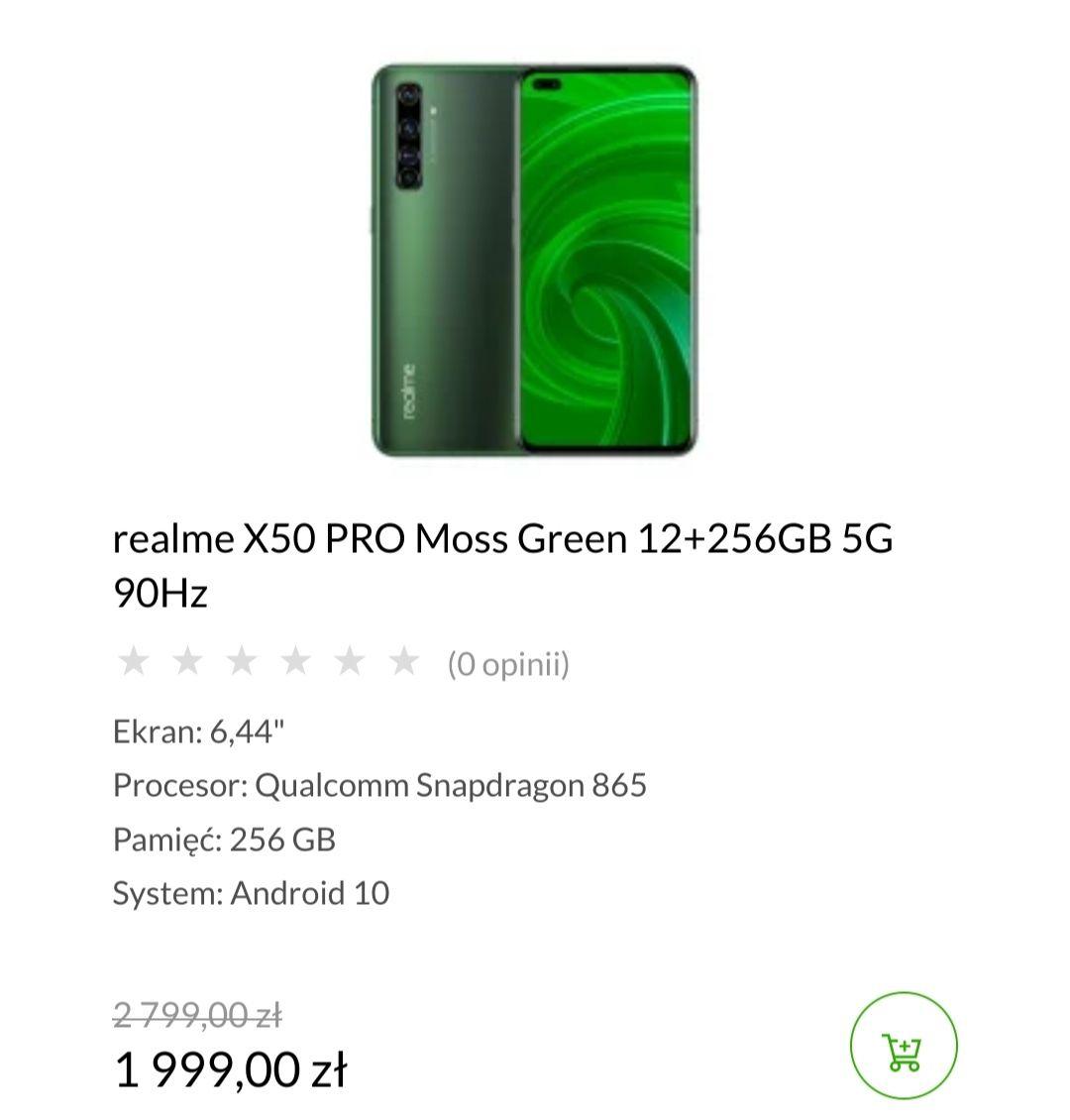 Realme X50 PRO Moss Green 12+256GB 5G 90Hz