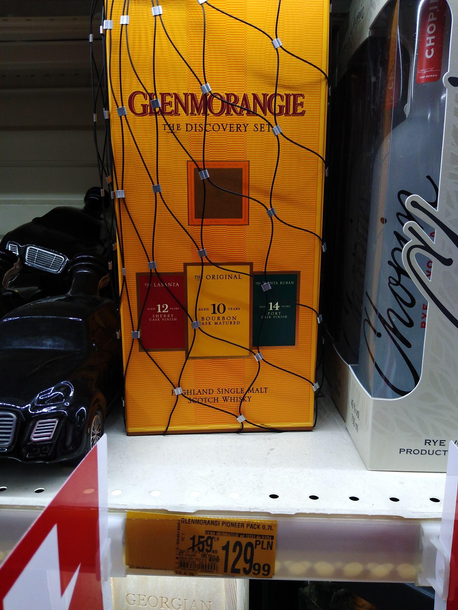 Auchan Szczecin Galaxy Glenmorangie 10YO 0,7 l + 12YO 0,05 l + 14 YO 0,05 l + karton. Plus inne alkohole.