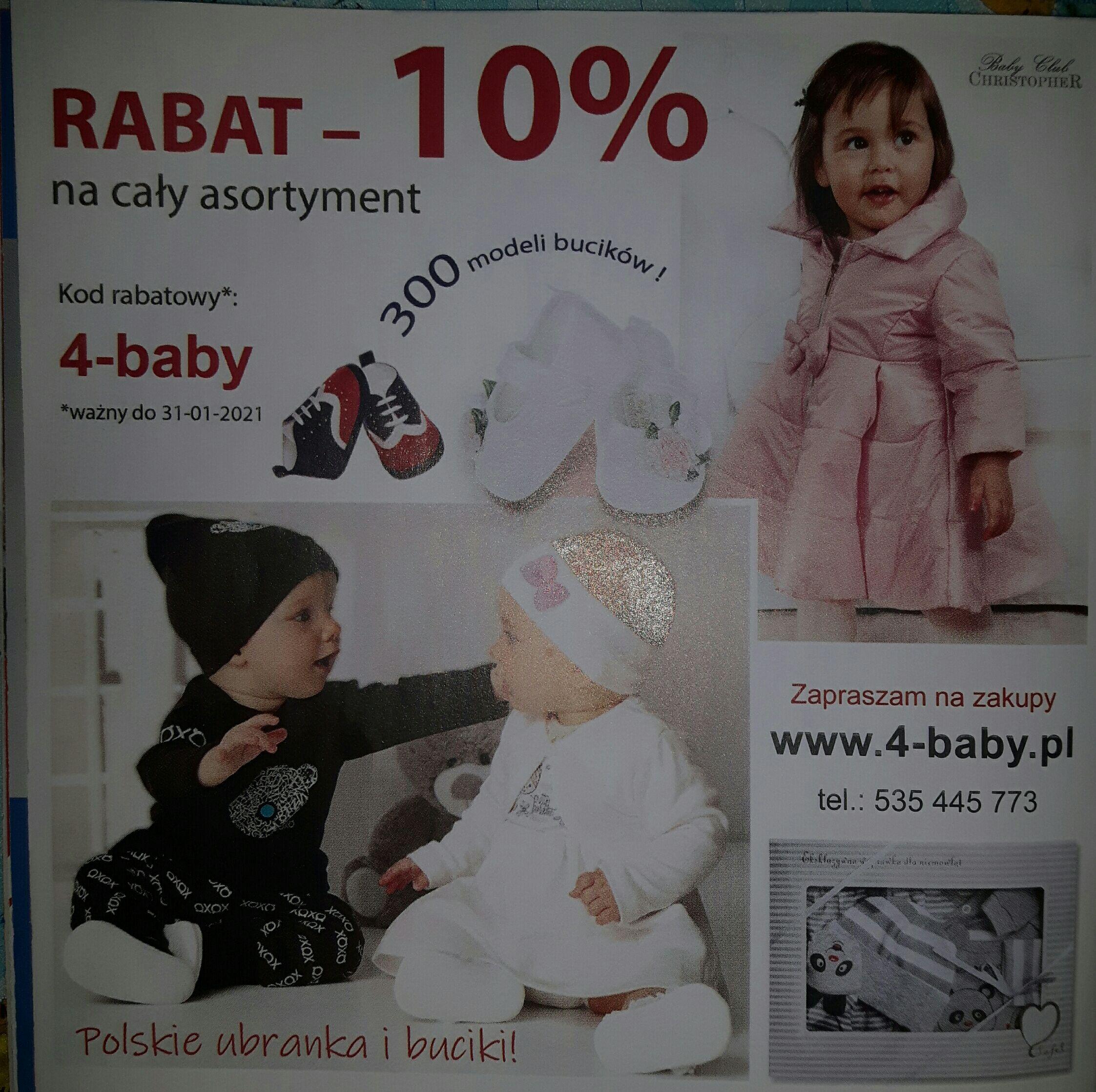 Rabat 10% na www.4-baby.pl
