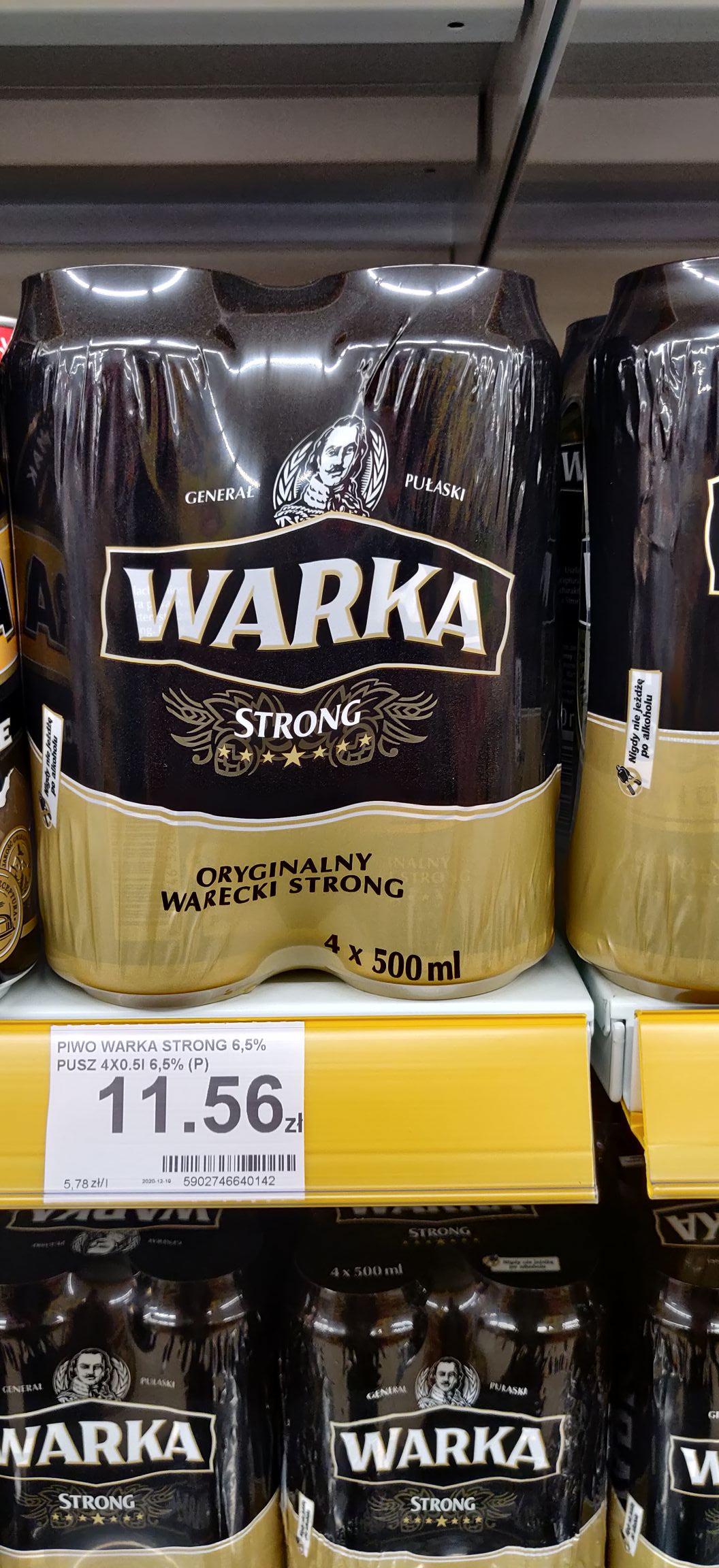 Warka STRONG (4x0,5l)