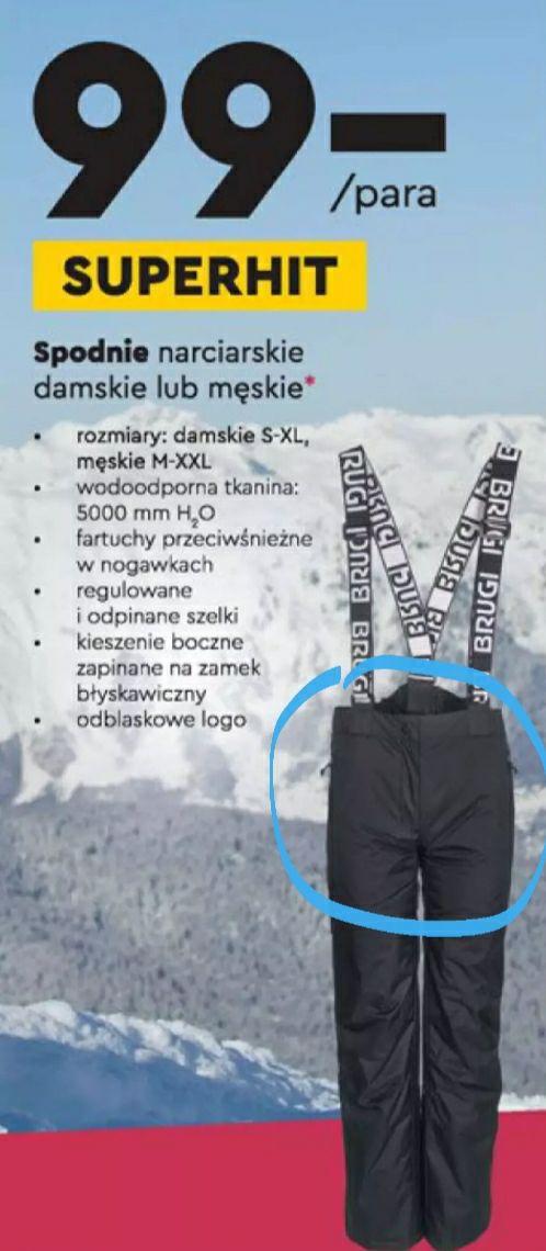 Spodnie narciarskie Brugi - Biedronka