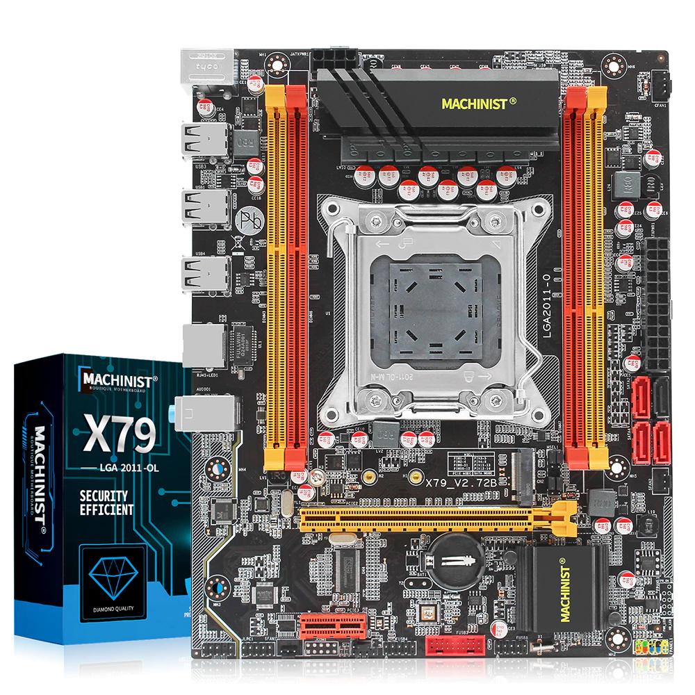 machinist prawdziwe X79 LGA 2011 płyta główna 4 chanel REG nvme sata3.0 0 front pod xeona e5-2650v2 lub e5-1650v2 do gier