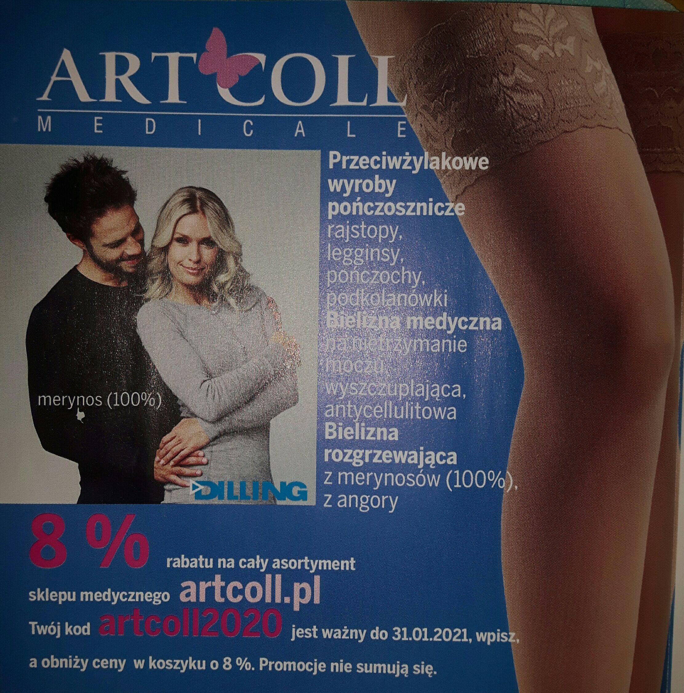 Rabat 8% na artcoll.pl