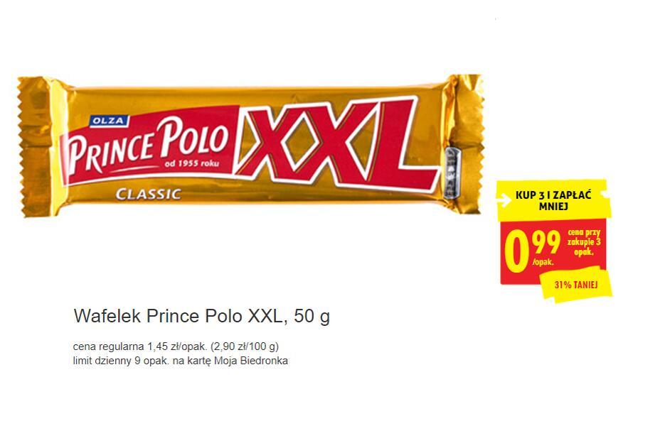 Prince Polo za 99 groszy przy zak 3 z kartą - Biedronka