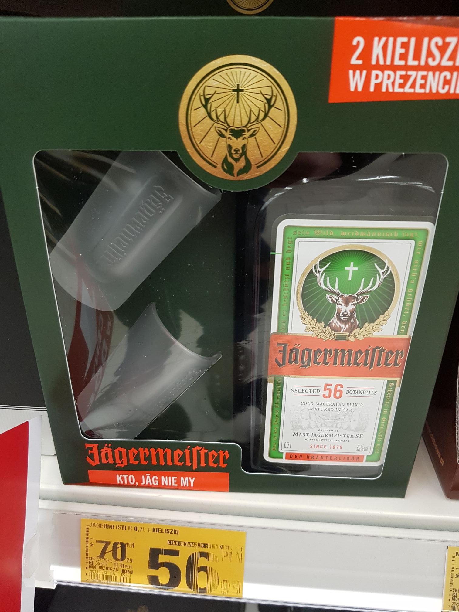 Auchan Jagermeister 0.7l + 2 kieliszki