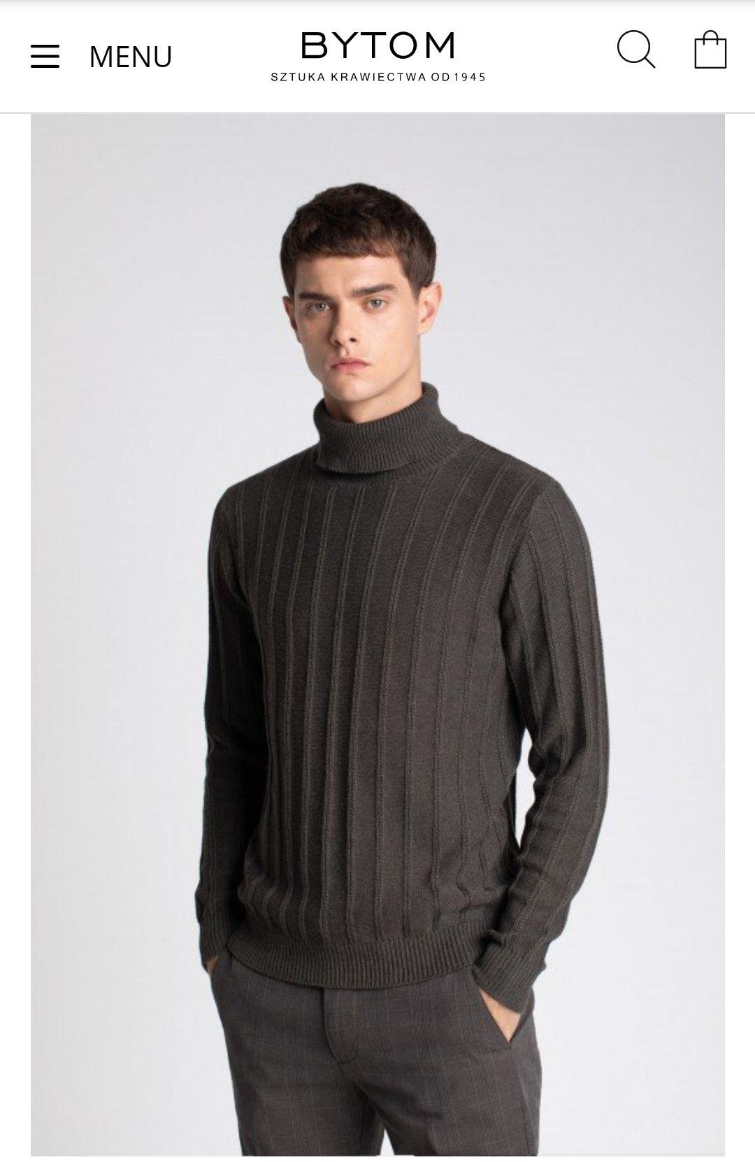 Sweter z golfem BYTOM 100% Bawełna