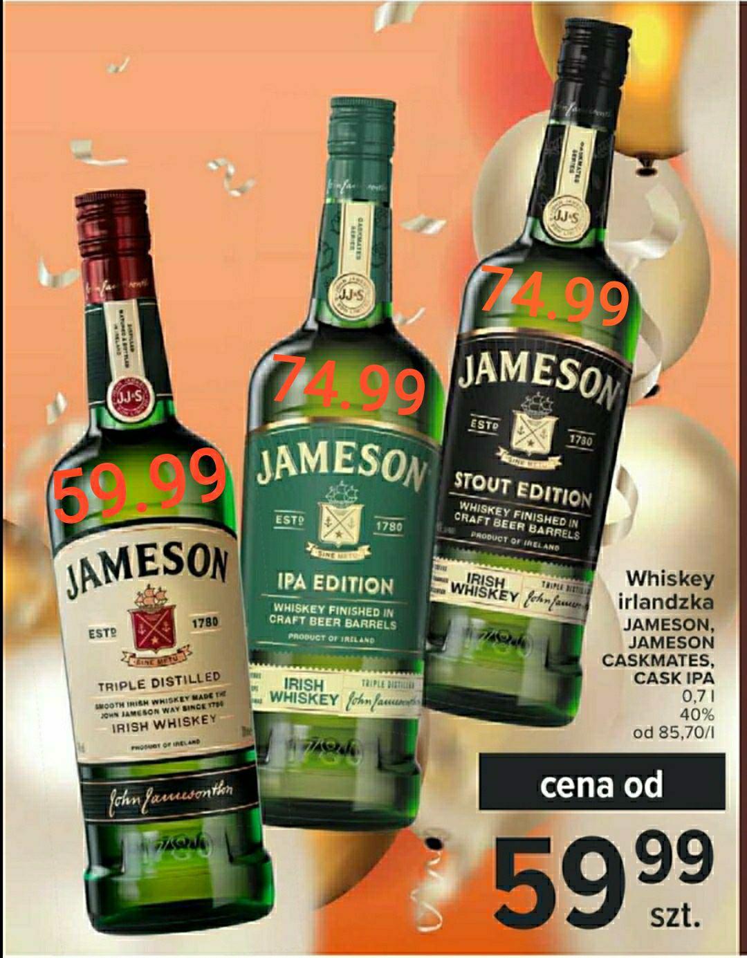 """Jameson Irish Whiskey (Whisky) 0,7L 40% Carrefour Gazetka """"Wszystkie Smaki Karnawału"""""""