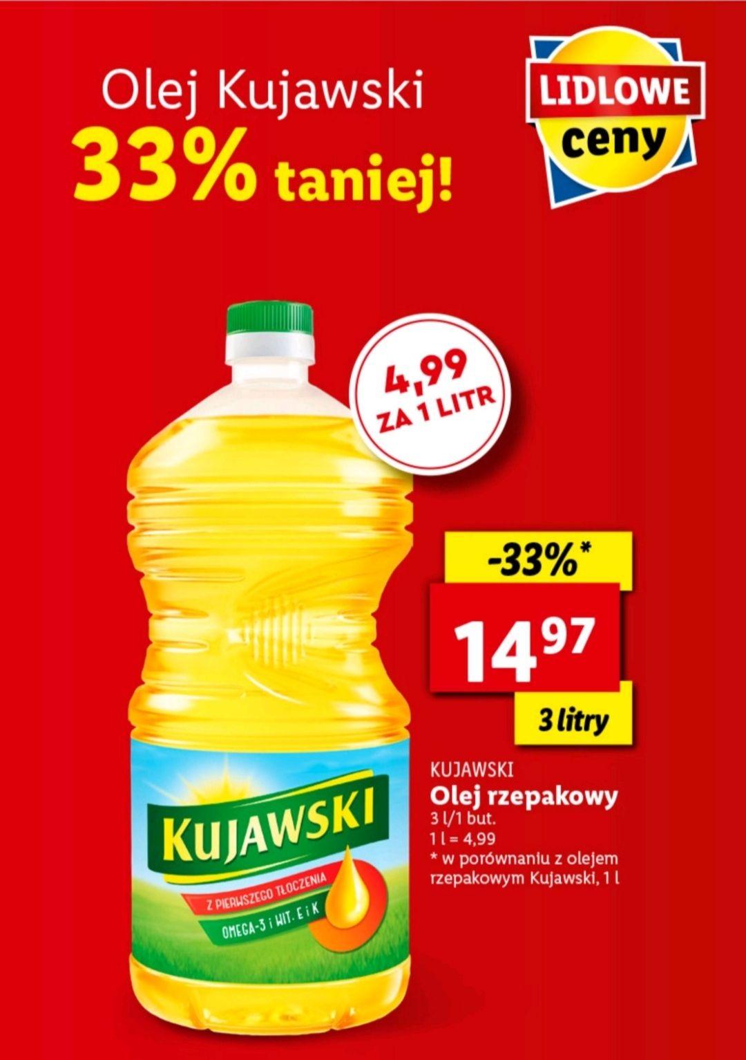 Olej Kujawski rzepakowy 3L Lidl