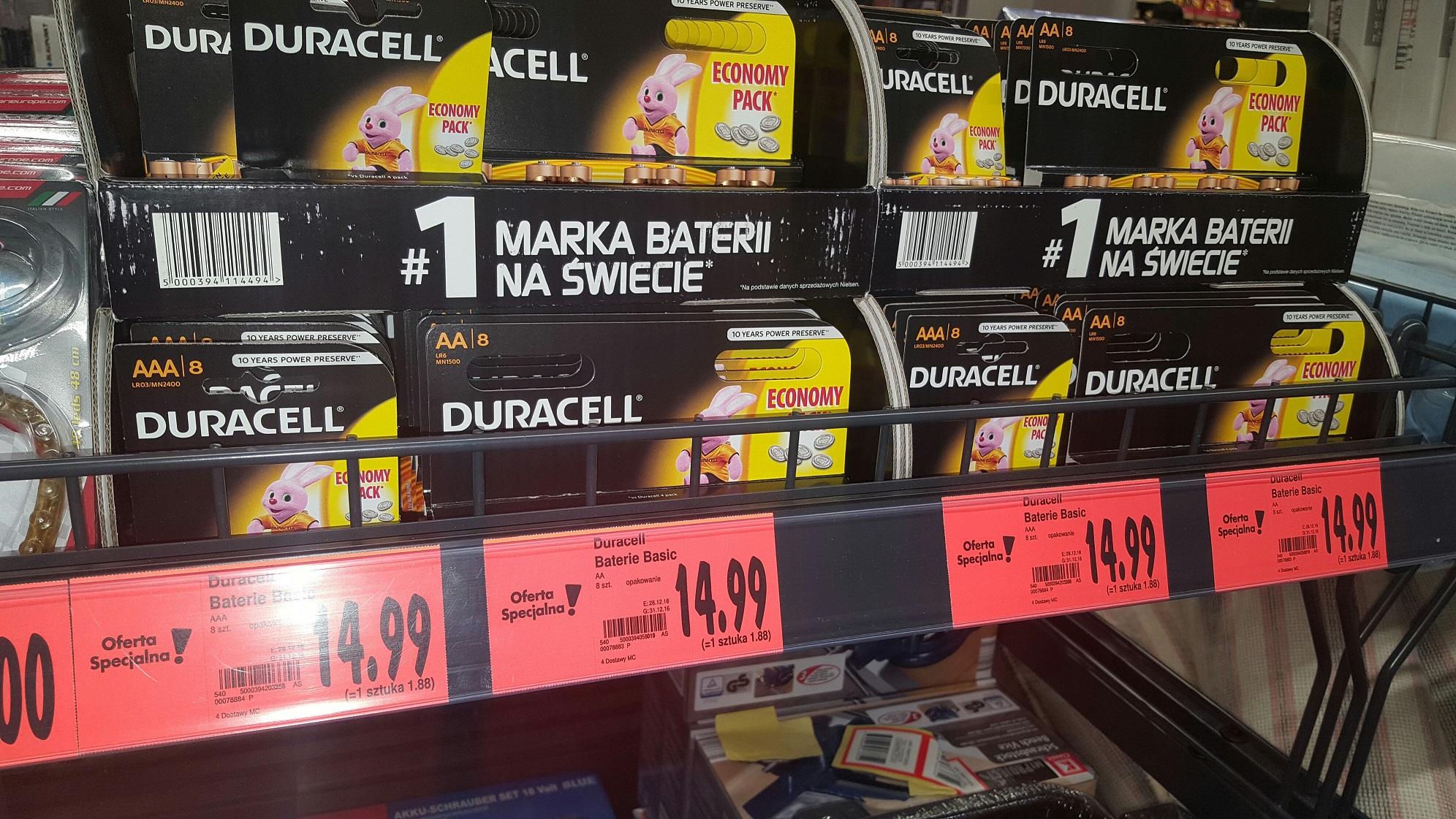 DURACELL Baterie alkaliczne (8szt.) - AA i AAA - KAUFLAND