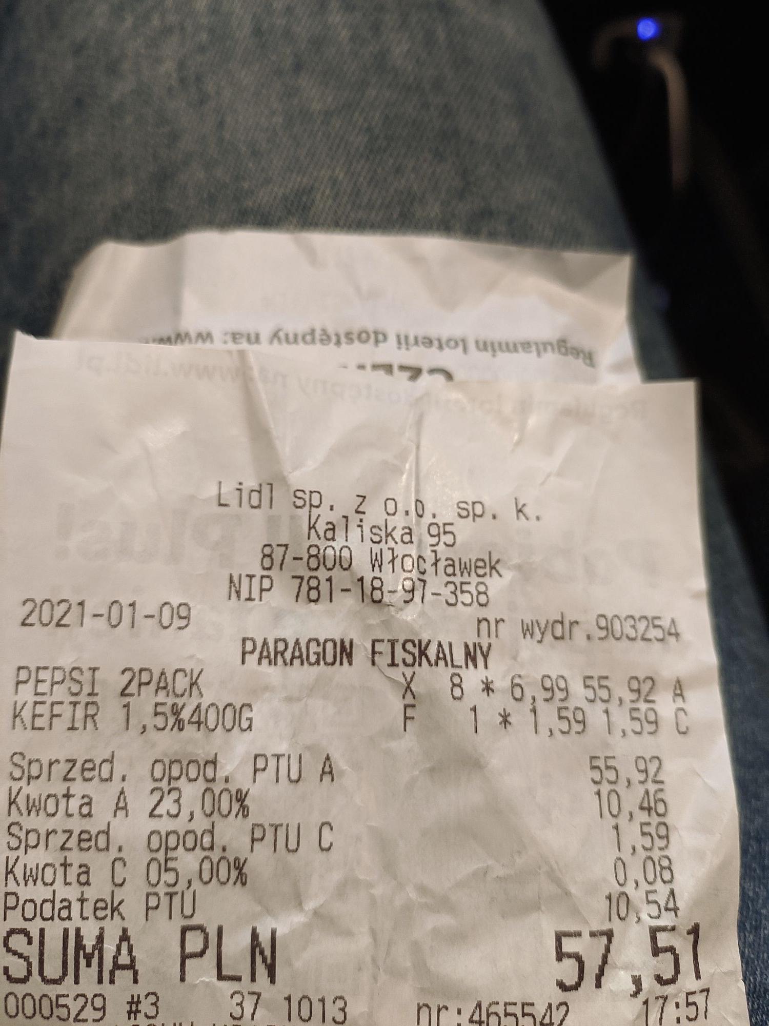 Pepsi 2 x 2,5l w Lidlu za 6,99 zł!