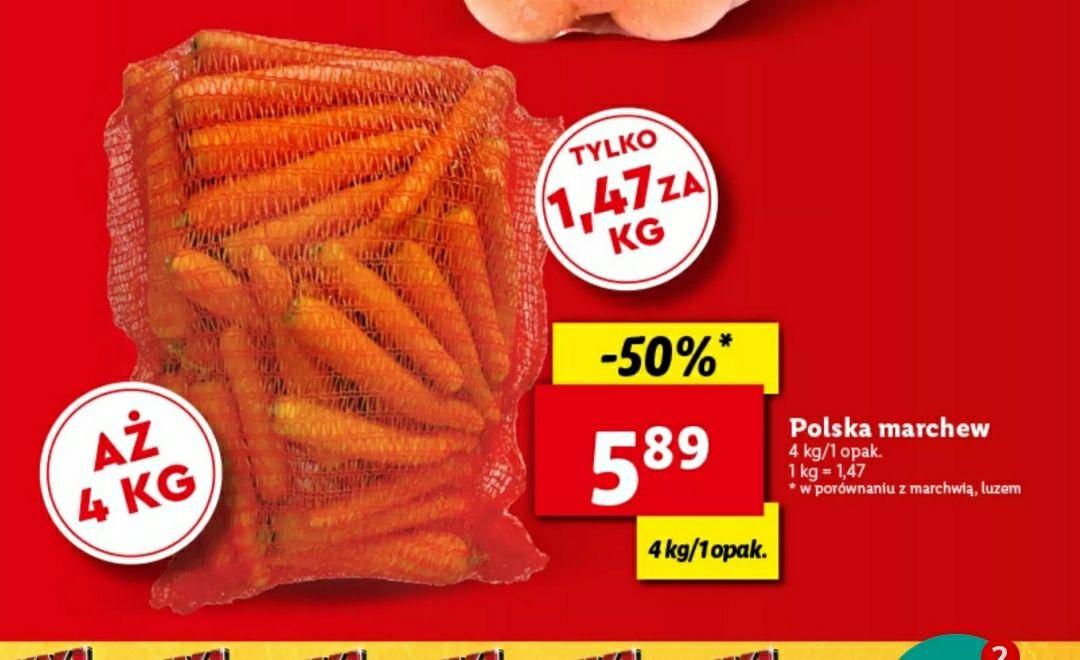 Marchew w Lidlu 1,47 zł/kg (przy zakupie 4 kg)