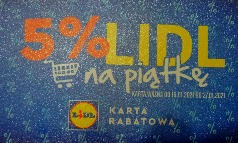 LIDL Toruń. Karta rabatowa 5%. Lokalna.