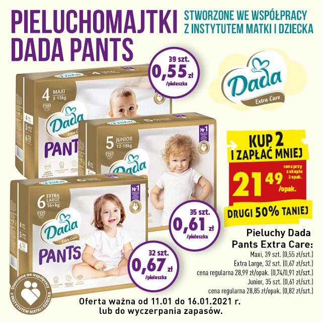 Pieluchimajtki Dada Pants - 50% na 2 opakowanie