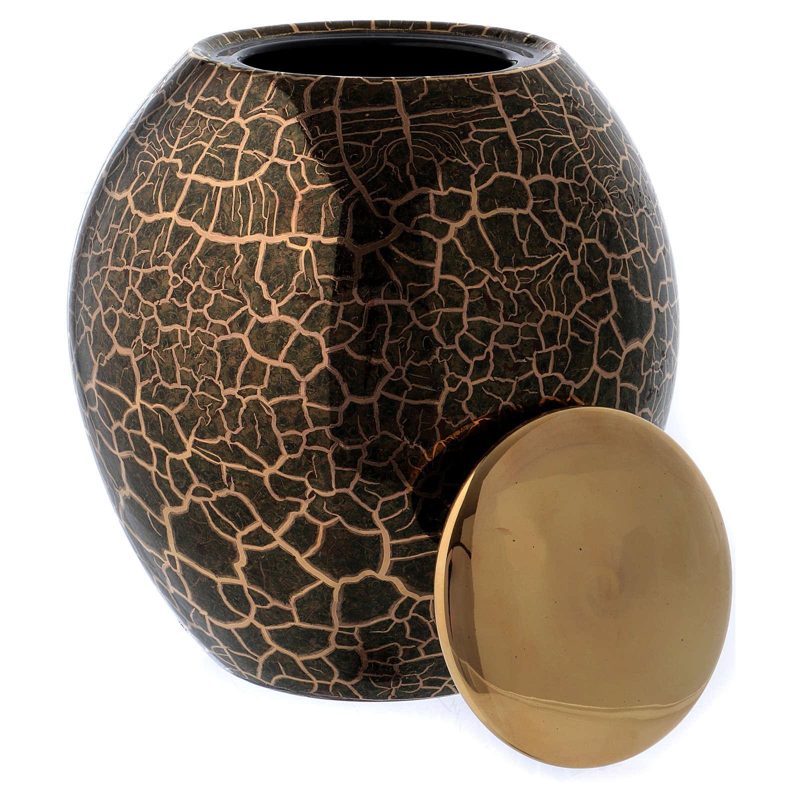 Urna pogrzebowa z efektem krakelury, ceramiczna (włoska manufaktura), sprzedaż bez limitów