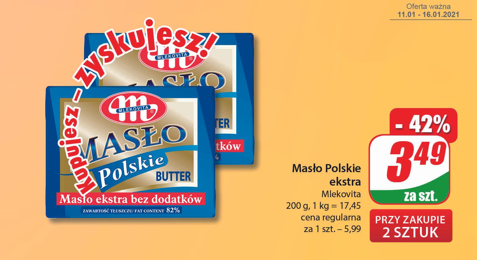 Masło Polskie Extra Mlekovita 200g (cena przy zakupie 2szt.) - DINO