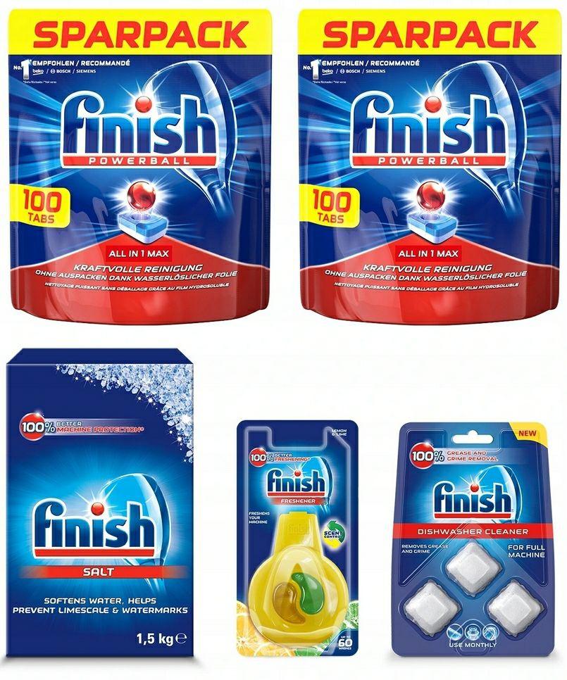 Finish zestaw All In 1 Max tabletki (200)+sól 1,5kg+akcesoria