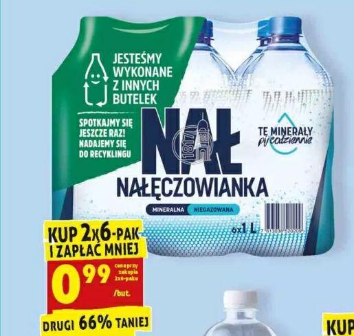 Woda mineralna niegazowana Nałęczowianka 1l (przy zakupie 2x6-paku)