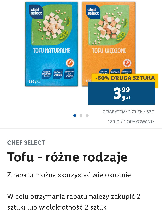 Lidl Plus Tofu drugie opakowanie -60%
