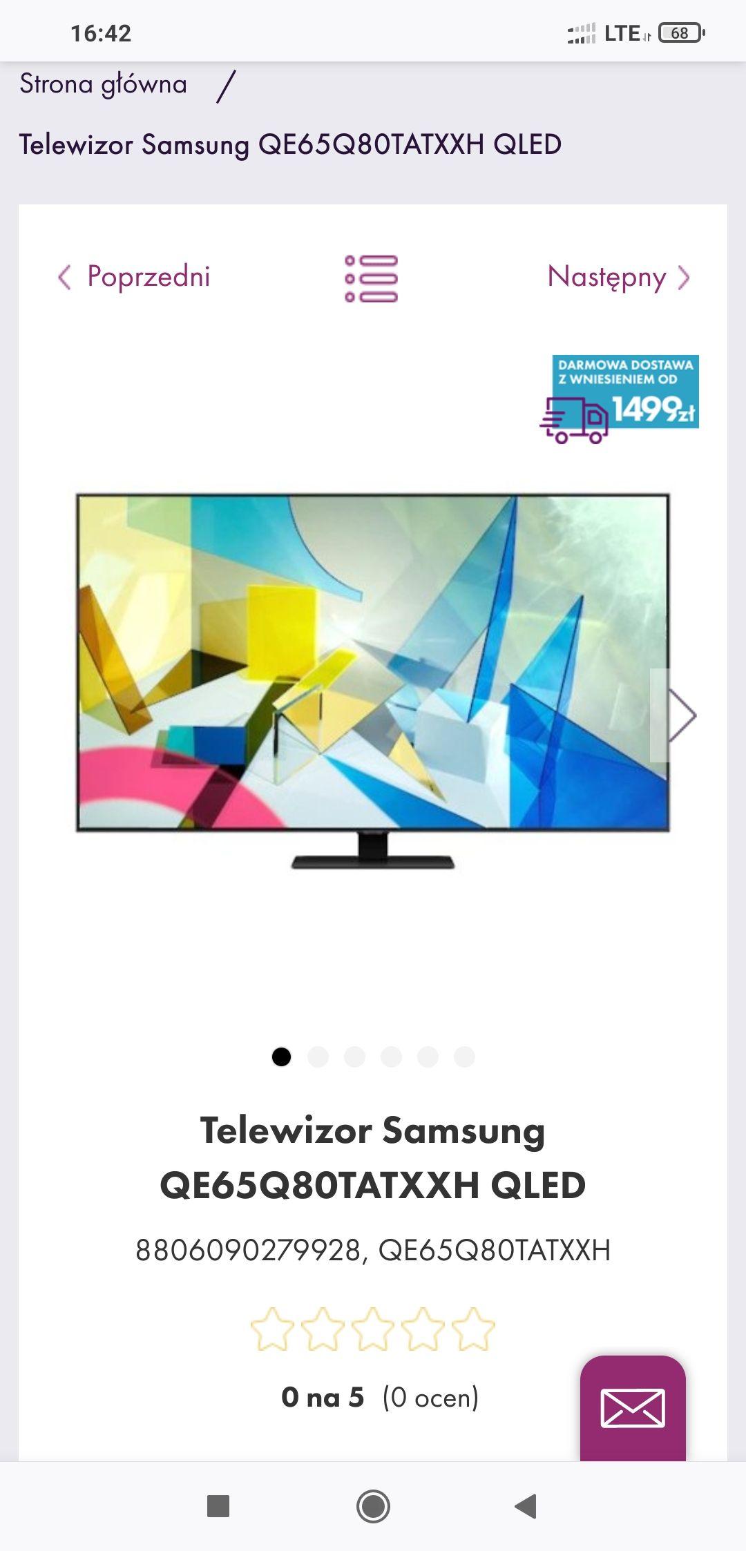 Telewizor Samsung QE65Q80TATXXH