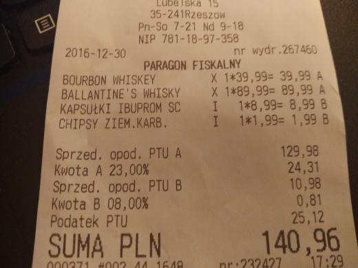 Whisky Ballantine's w Lidl 1.5 L za 89 zł.