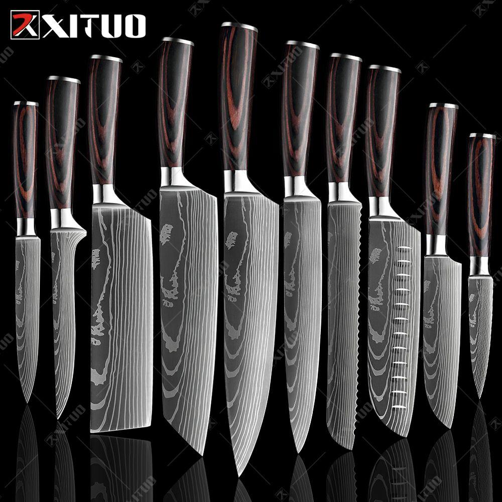 10szt Japońskie noże XITUO, $69.63, (możliwe 250PLN)